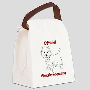 Westie Grandma Canvas Lunch Bag