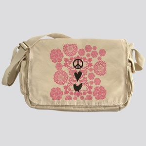 Peace, Love And Chickens Messenger Bag