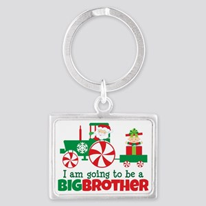 Santa Tractor Big Brother To Be Landscape Keychain