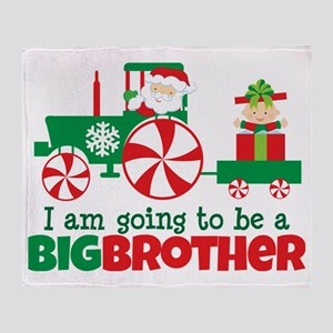 Santa Tractor Big Brother To Be Throw Blanket