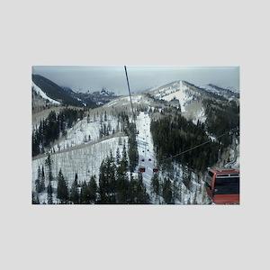 Mountain Gondola Ride Rectangle Magnet