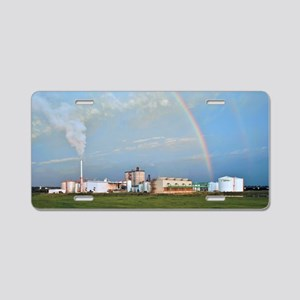 Corn ethanol processing pla Aluminum License Plate