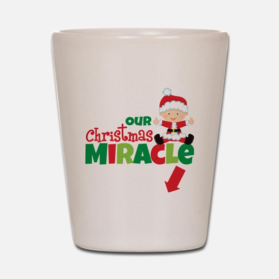 Our Christmas Miracle Shot Glass