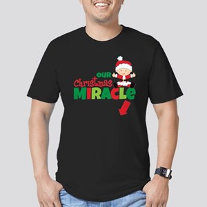 Our Christmas Miracle Men's Fitted T-Shirt (dark)