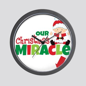 Our Christmas Miracle Wall Clock