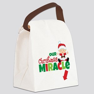 Our Christmas Miracle Canvas Lunch Bag
