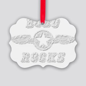 BOBO ROCKS Picture Ornament