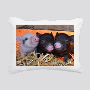 3 Little Pigs Rectangular Canvas Pillow