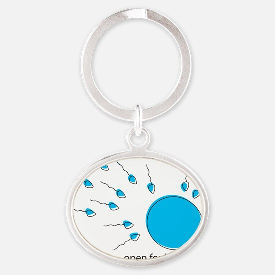 ready for business Oval Keychain