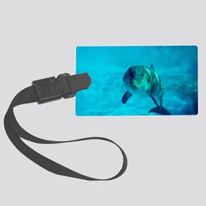 Dolphin in captivity Large Luggage Tag