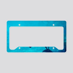Dolphin in captivity License Plate Holder