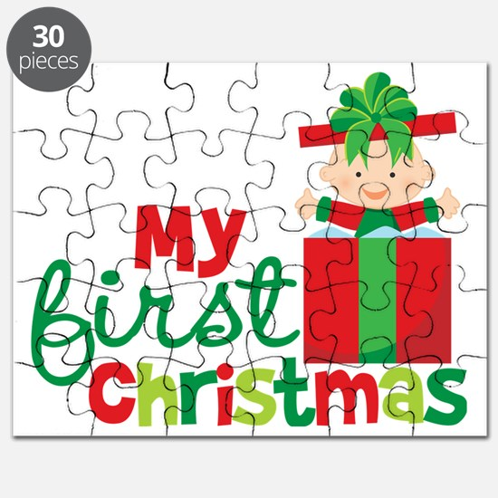Baby in Present Babies 1st Christmas Puzzle