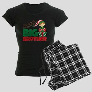 elf going to be a big brothe womens dark pajamas