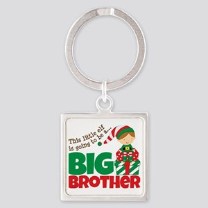 Elf going to be a Big Brother Square Keychain