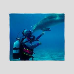 Diver communication system Throw Blanket