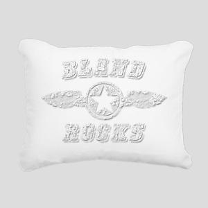 BLAND ROCKS Rectangular Canvas Pillow