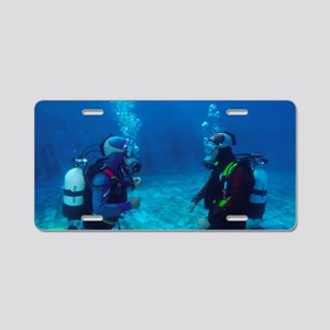 Diver communication system Aluminum License Plate