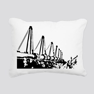The Pipeline Rectangular Canvas Pillow