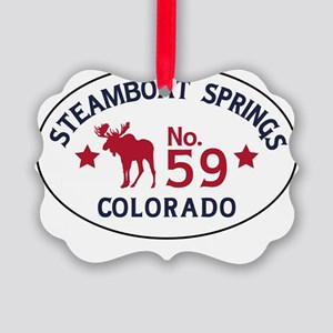 Steamboat Springs Moose Badge Picture Ornament