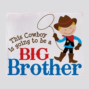 Cowboy Big Brother To Be Throw Blanket