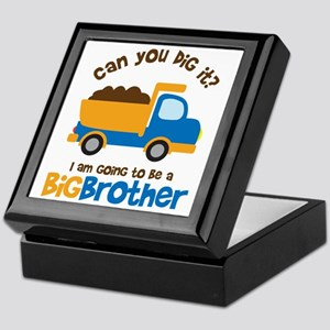 Dump truck Big Brother To Be Keepsake Box