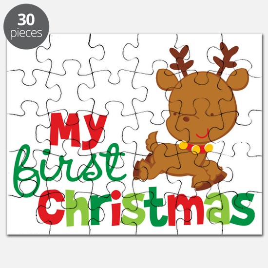 Reindeer Babies 1st Christmas Puzzle