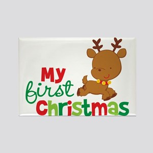 Reindeer Babies 1st Christmas Rectangle Magnet