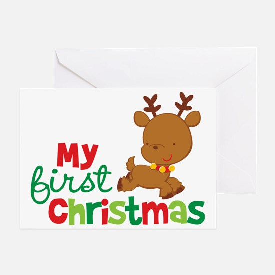 Reindeer Babies 1st Christmas Greeting Card