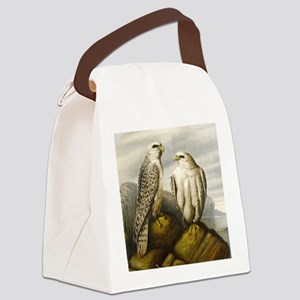 Painted Falcons Canvas Lunch Bag