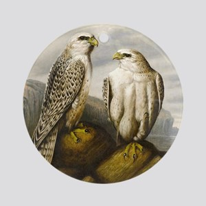 Painted Falcons Round Ornament