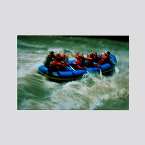 White water rafting Rectangle Magnet