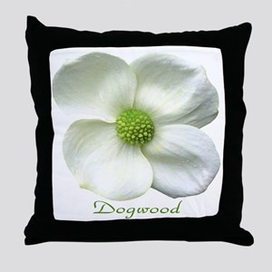 Flower Dogwood Throw Pillow