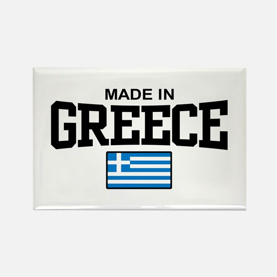 Made in Greece Rectangle Magnet