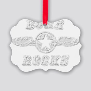 BURR ROCKS Picture Ornament