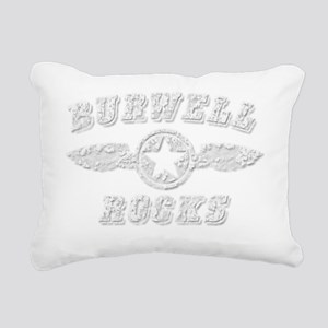 BURWELL ROCKS Rectangular Canvas Pillow