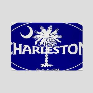 Charleston South Carolina Clear Rectangle Magnet