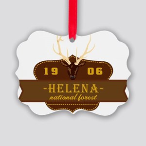 Helena National Park Crest Picture Ornament
