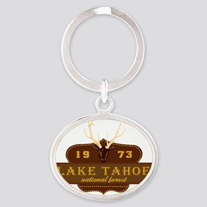 Lake Tahoe National Park Crest Oval Keychain
