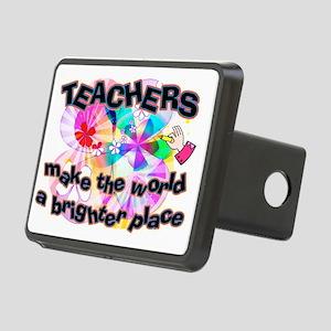 Teachers make world bright Rectangular Hitch Cover