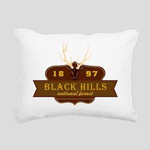 Black Hills National Par Rectangular Canvas Pillow