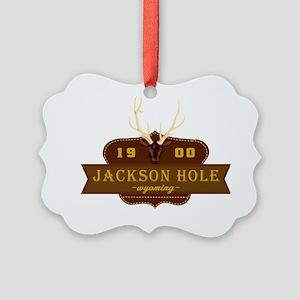 Jackson Hole National Park Crest Picture Ornament
