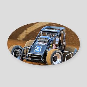 January Oval Car Magnet