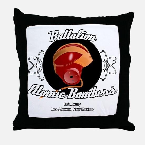 Battalion Atomic Bombers Throw Pillow