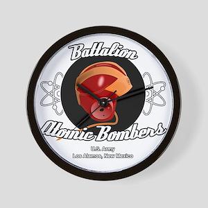 Battalion Atomic Bombers Wall Clock