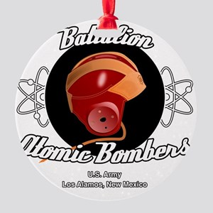 Battalion Atomic Bombers Round Ornament