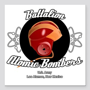 "Battalion Atomic Bombers Square Car Magnet 3"" x 3"""