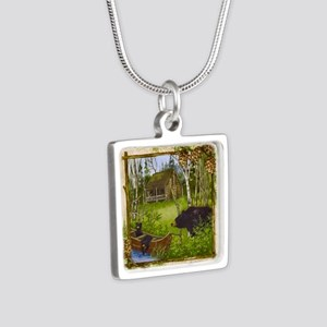 Best Seller Bear Silver Square Necklace