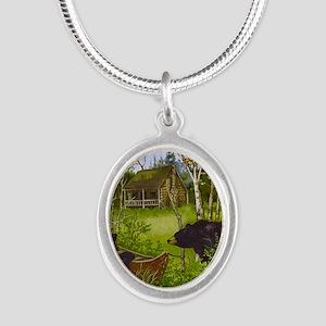 Best Seller Bear Silver Oval Necklace