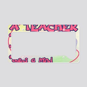 TEACHER HEART SIGN License Plate Holder