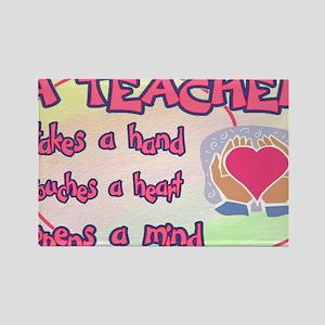 TEACHER HEART SIGN Rectangle Magnet